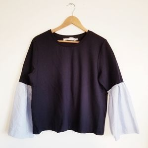 Simon's Contemporaine sweatshirt bell sleeves